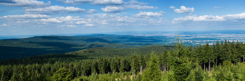Panorama of the Taunus Hillscape Royalty Free Stock Images