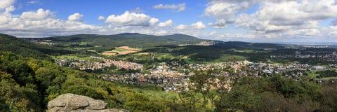 Panorama of the Taunus low mountain rang Royalty Free Stock Photo