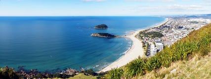 Panorama of Tauranga beach Royalty Free Stock Photography