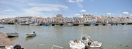 Panorama from Tavira in Portugal Royalty Free Stock Photo