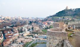 Panorama. Tbilisi. Georgië. Royalty-vrije Stock Afbeelding