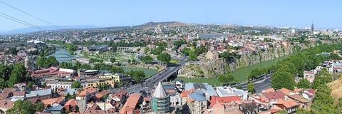 Panorama of Tbilisi, Georgia Royalty Free Stock Photos