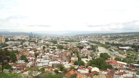 Panorama of Tbilisi stock video