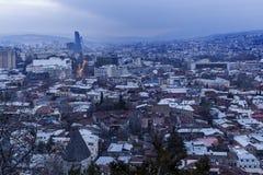 Panorama of Tbilisi at sunset Royalty Free Stock Photos