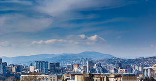 Panorama of Tbilisi Royalty Free Stock Photos