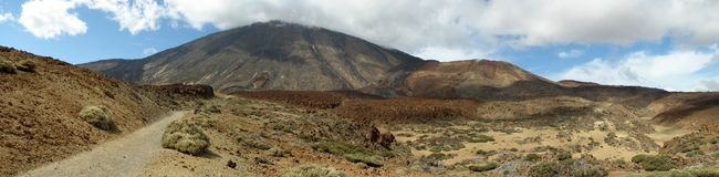 Panorama Of Teide Stock Image