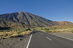 The Teide. Panorama of Teide volcano in Tenerife Stock Image
