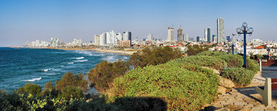Panorama of Tel-Aviv coastline Stock Photo