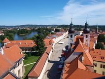 Panorama of Telc, Czech Republic Royalty Free Stock Photos