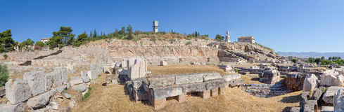Panorama of Telesterion, ancient Eleusis, Greece royalty free stock photography