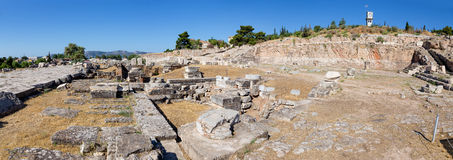 Panorama of Telesterion, ancient Eleusis, Greece Royalty Free Stock Photo