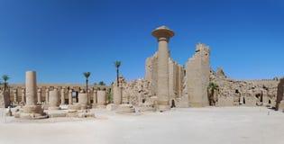 Panorama Tempel Luxor-Ägypten Lizenzfreies Stockbild