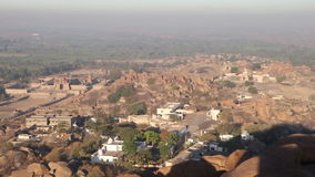 Panorama of temple city in India stock footage