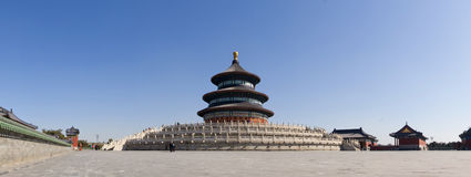 Panorama of the Temple of Heaven. The panorama of the Temple of Heaven Royalty Free Stock Photo
