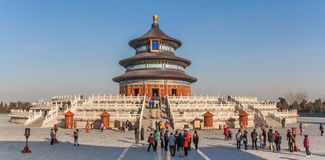 Panorama of the temple of Heaven in Beijing Royalty Free Stock Images