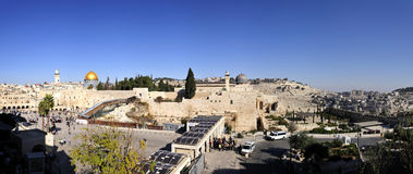 Panorama of the Temple Mount Royalty Free Stock Images