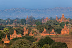 Panorama the  Temples of bagan at sunrise, Bagan, Myanmar Royalty Free Stock Photography