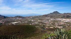 Panorama of Tenerife Looking Towards Gomera. Panoramic view of southern Tenerife coast looking towards the island of Gomera Royalty Free Stock Image