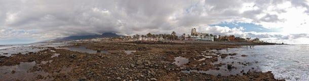 Panorama Tenerife at low tide Stock Photos