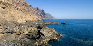 Panorama of Teno coast Royalty Free Stock Images