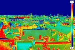 Panorama termico di immagine di Zagabria Fotografie Stock Libere da Diritti