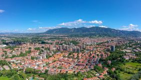 Panorama Terni, Umbrië, Italië royalty-vrije stock afbeeldingen