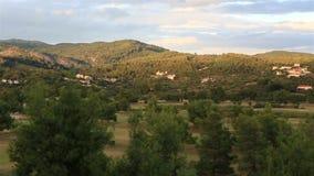 Panorama of territory Porto Carras Grand Resort. stock video footage