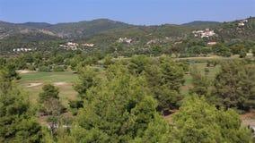 Panorama of territory Porto Carras Grand Resort. stock footage