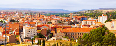 Panorama of Teruel with  landmarks Royalty Free Stock Photography