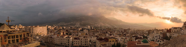Panorama of Tetouan, Morocco Stock Images