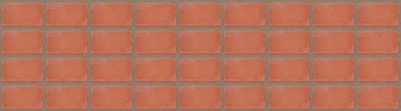 panorama textured da imagem do teste padrão de uma parede de tijolo Imagens de Stock