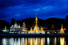 Panorama of thai temple Stock Photography