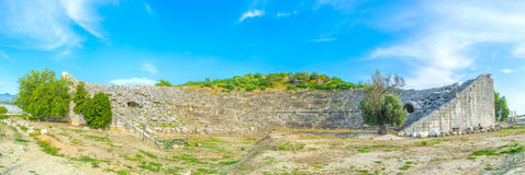 Panorama of theater of Letoon Royalty Free Stock Photography
