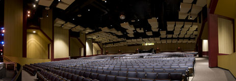 Panorama of Theater Seating Stock Photography