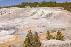 Panorama of a Thermal Area Royalty Free Stock Image