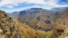 Panorama of the Three Rondavels on the Mpumalanga Panorama Route Royalty Free Stock Photography