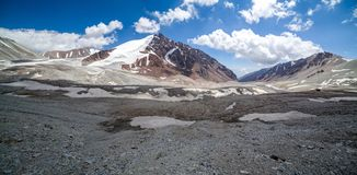 Panorama of Tien Shan mountains Royalty Free Stock Photo