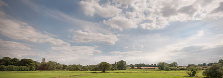 Panorama of Tiffey Valley Royalty Free Stock Photography