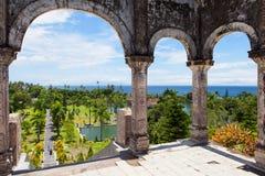 Panorama Tirtagangga Taman Ujung wody pałac na Bali obrazy royalty free