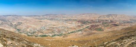 Panorama from Samarian highlands royalty free stock photo