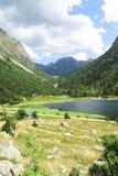 Panorama to Aigüestortes National Park, Catalan Pyrenees, Spain Royalty Free Stock Photo