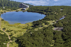 Panorama to Bezbog Lake, Pirin Mountain, Bulgaria Stock Photography