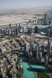 Panorama  to Dubai Royalty Free Stock Photography