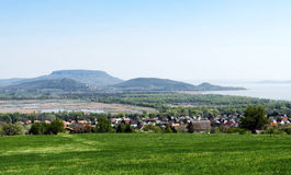 Panorama to Lake Balaton,Hungary Stock Images