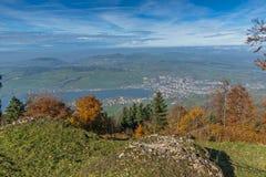 Panorama to Lake Luzerne, Alps, Switzerland Royalty Free Stock Photo