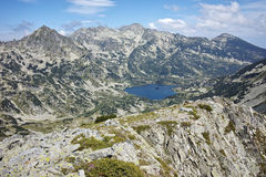 Panorama to Popovo Lake from Dzhano peak, Pirin mountain, Bulgaria Stock Images