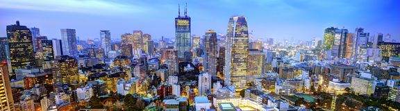 Panorama of Tokyo Stock Images