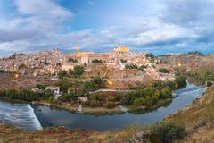 Panorama of Toledo, Castilla La Mancha, Spain Stock Photo