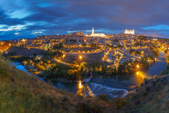 Panorama of Toledo, Castilla La Mancha, Spain Stock Images