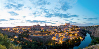 Panorama toledo dusk Royalty Free Stock Photography